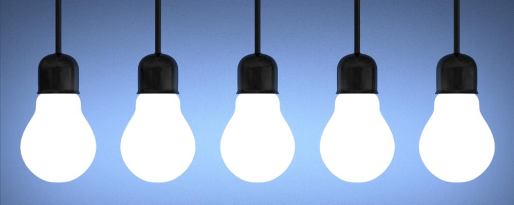 ESOS Phase 3 - row of tungsten lightbulbs